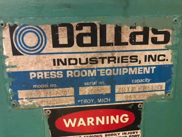 """6000 LB x 30"""" x.125"""" Dallas Servo Feedline"""