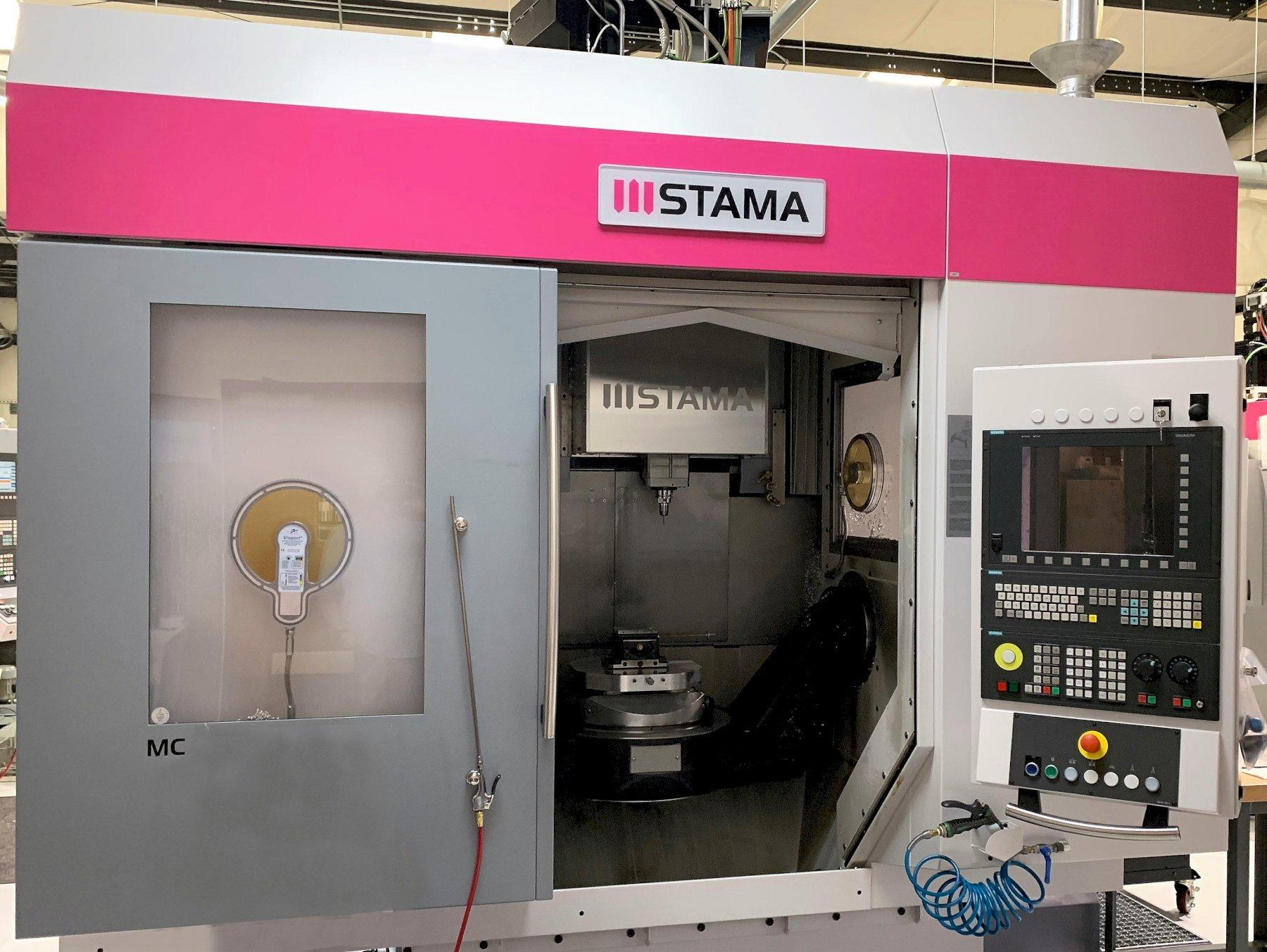 """Stama MC 533 5-Axis HS VMC 2014, with: Siemens 840D Control, 19"""" Rotary Table, Full Probe System, and Coolant Thru Spindle."""