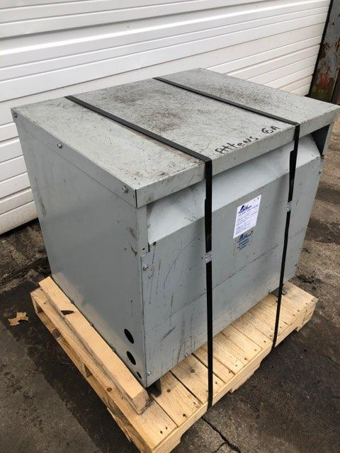 75 KVA ACME 480D TO 480Y/277 VOLT ELECTRICAL TRANSFORMER: STOCK #10847
