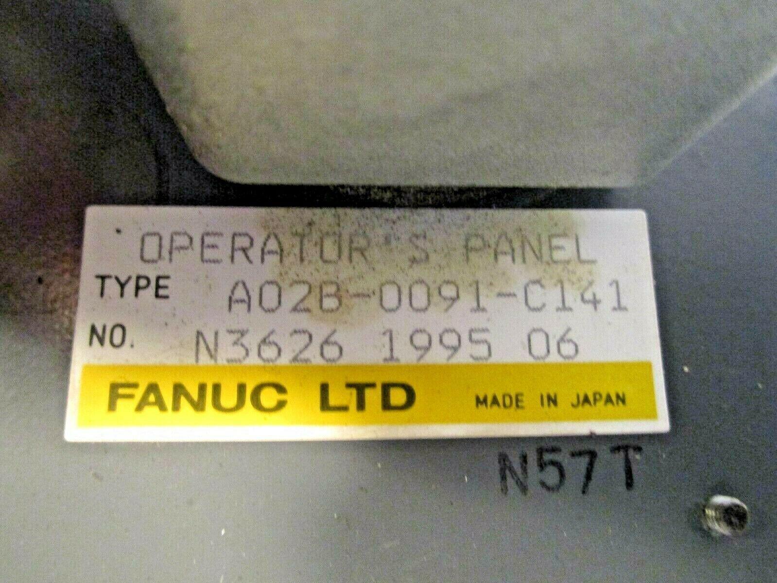 Fanuc 0T Operator Panel A02B-0091-C141