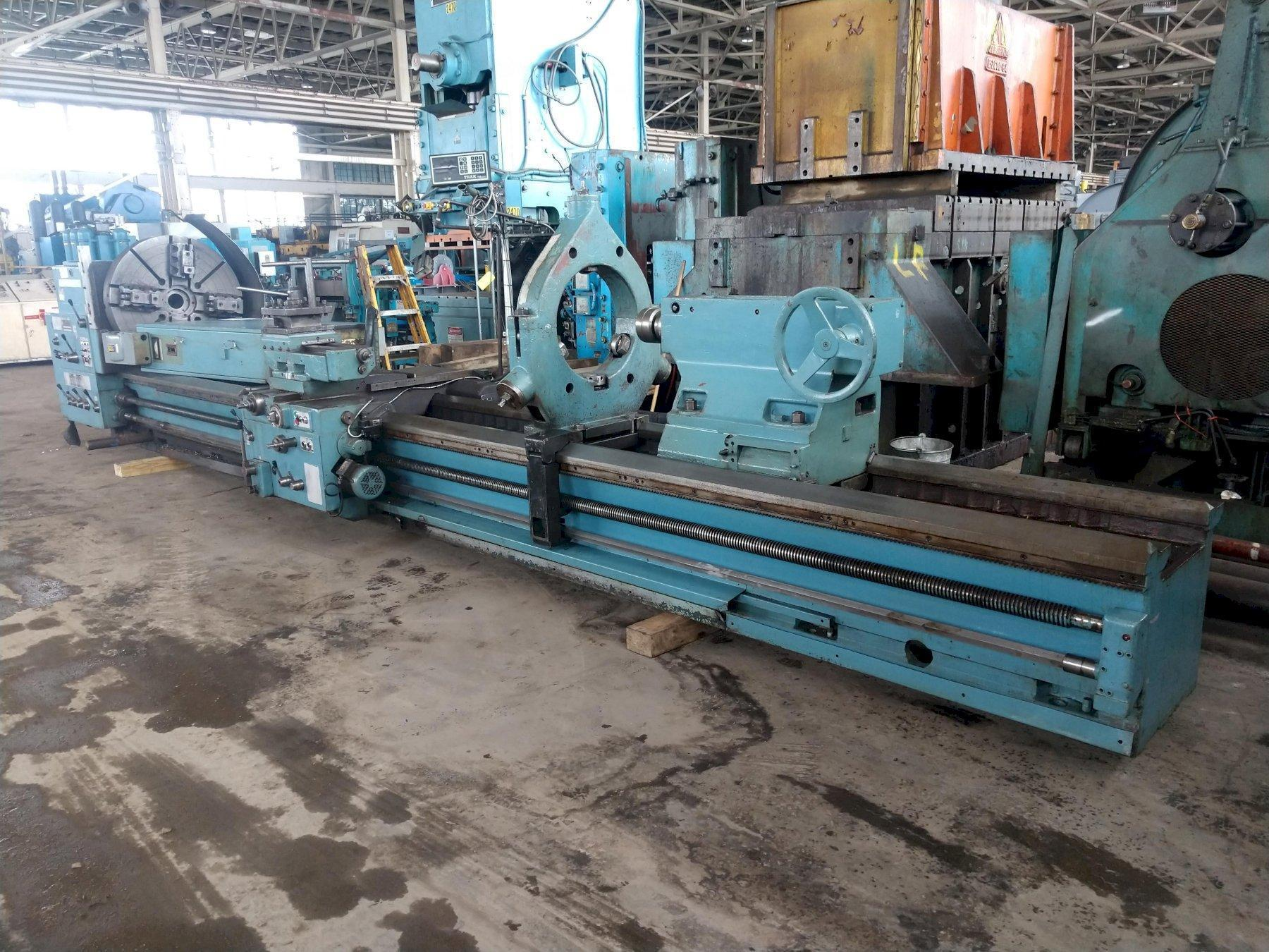 "42"" X 240"" TOS MODEL SU100 HEAVY DUTY ENGINE LATHE"