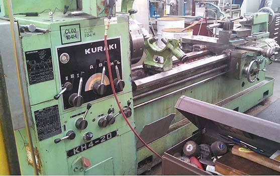 "25"" x 80"" KURAKI Oil Country Lathe, Model KH4-20, 25' Swing over Bed, 16"" Over Cross Slide, 80"" Centers , 4-1/8"" Spindle Bore, Front and Rear Chucks, Threading, Taper, New 1981."