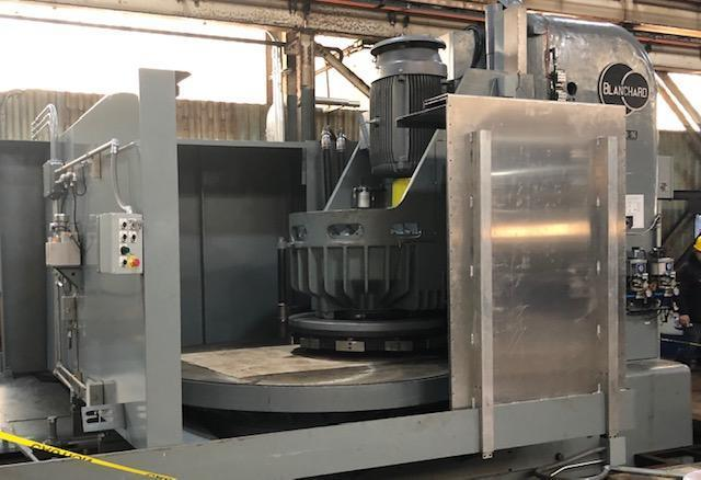 Blanchard #48HD-96, 96″ Geared Head Vertical Spindle Rotary Surface Grinder, 250 HP, Re-manufactured-12/2018, 780 Hrs.