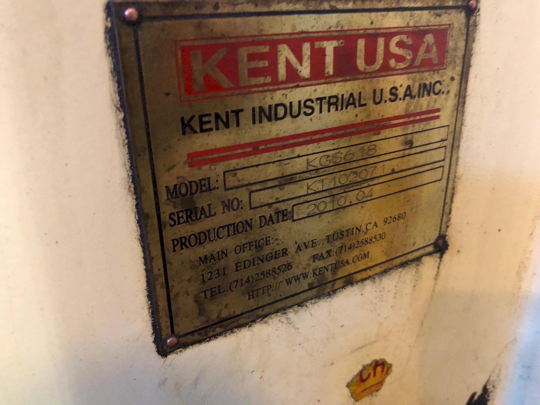 Kent # KGS618, 6″ x 18″ Horizontal Reciprocating Surface Grinder, MFG. 2010