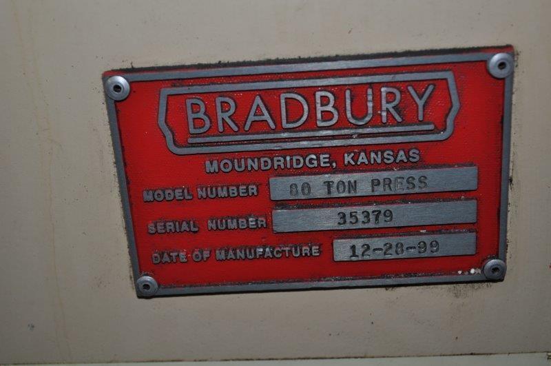 80 Ton Bradbury Cut Off Press