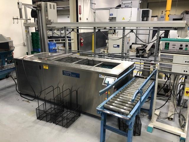 BRANSON MODEL #OMNI-2000 ULTRASONIC WASH SYSTEM WITH AUTOMATED CRANE: STOCK 14305