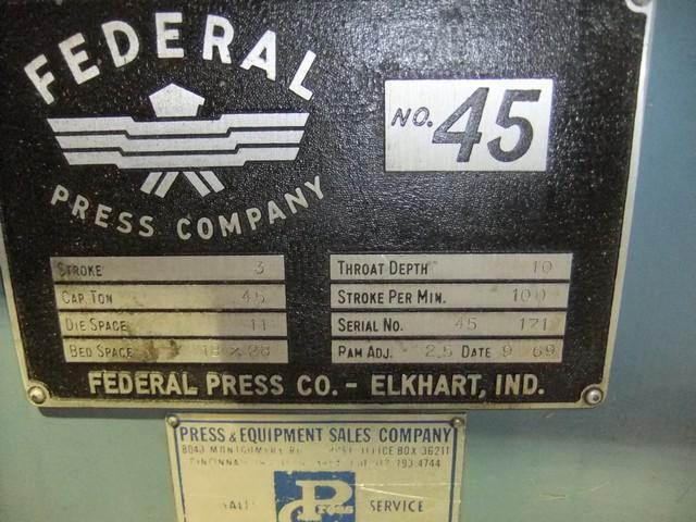 45 TON FEDERAL OBI PRESS: STOCK #73201