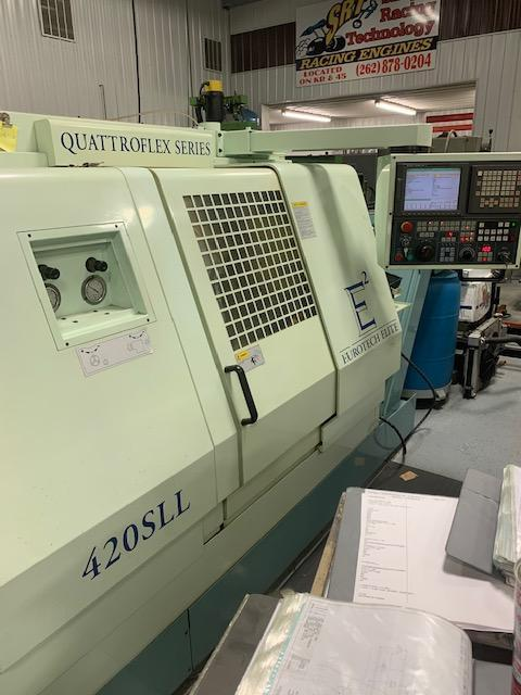 1999 EUROTECH ELITE 420SLL TWIN-TURRET TWIN-SPINDLE CNC TURNING CENTER