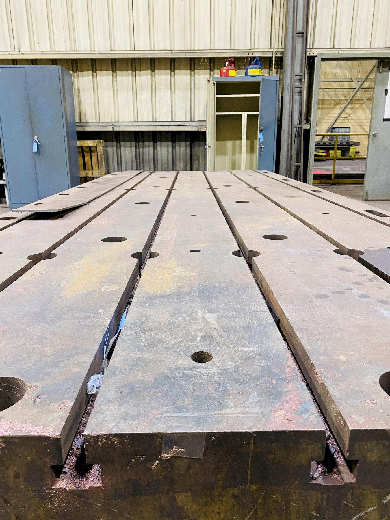 """72"""" X 182"""" X 14"""" GIDDINGS & LEWIS T-SLOTTED FLOOR PLATE. STOCK # 0309921"""