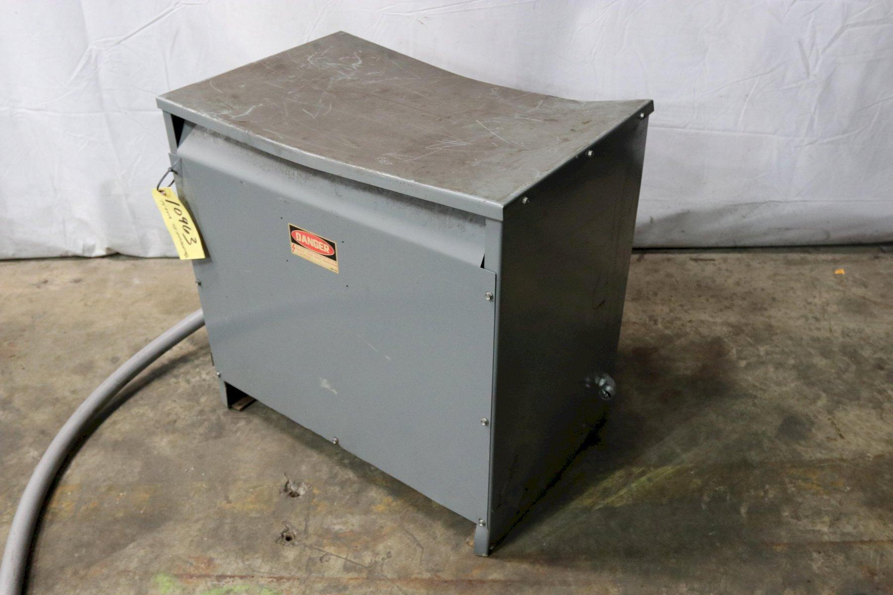 75 KVA SQUARE D 480 TO 240 VOLT ELECTRICAL TRANSFORMER: STOCK 10963