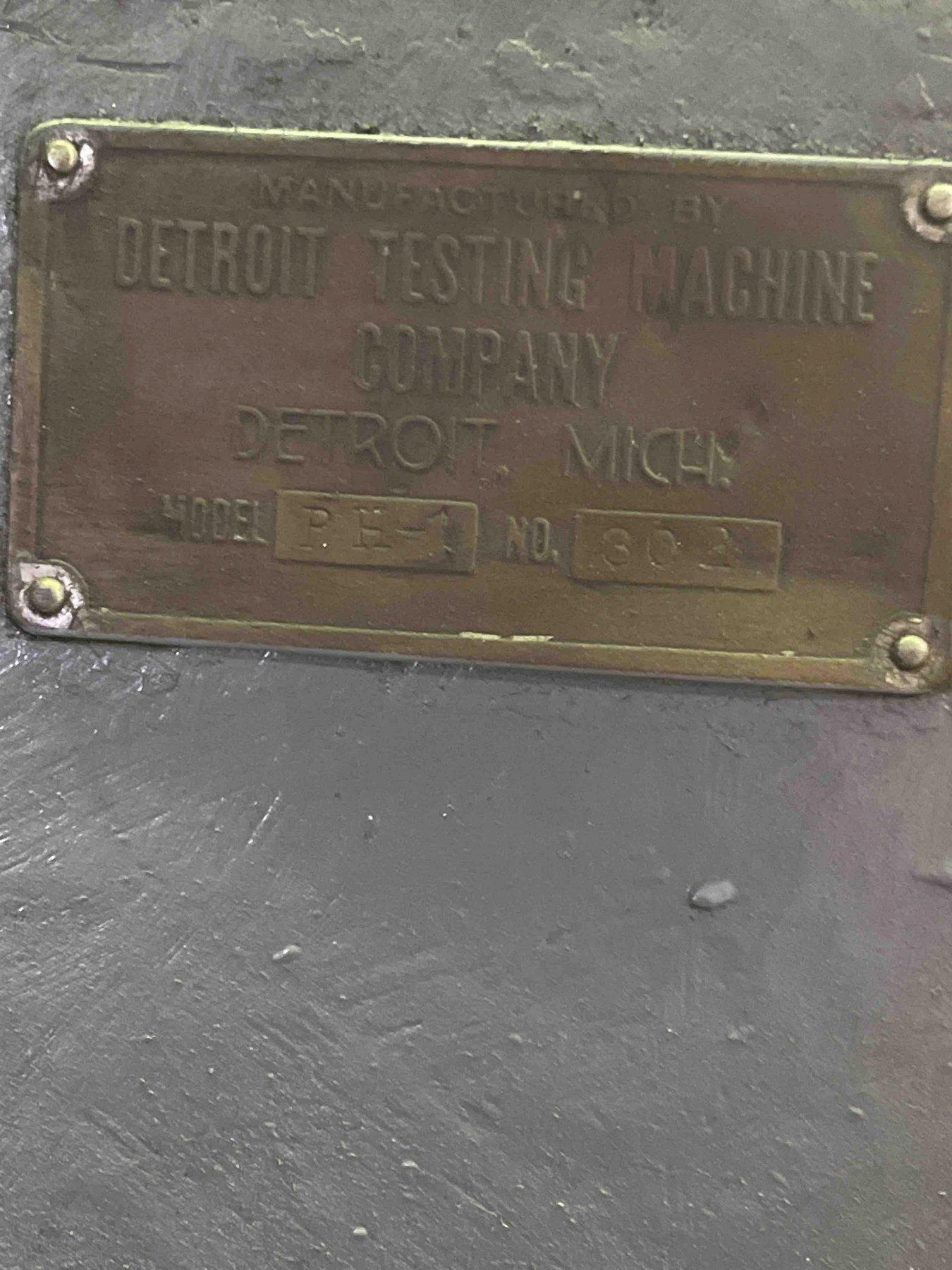 detroit model ph-1 brinell tester s/n 302, 5000 kg