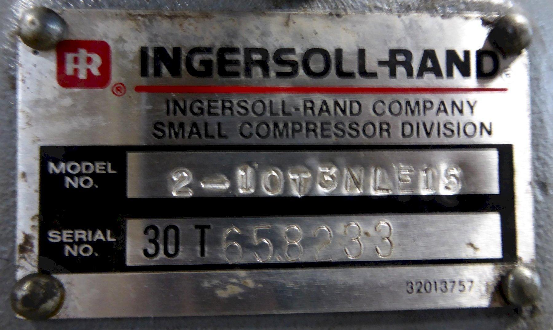 15 HP Ingersoll-Rand Air Compressor, T30 Duplex, 175 PSI, 100 PSI, 120 Gallon Tank