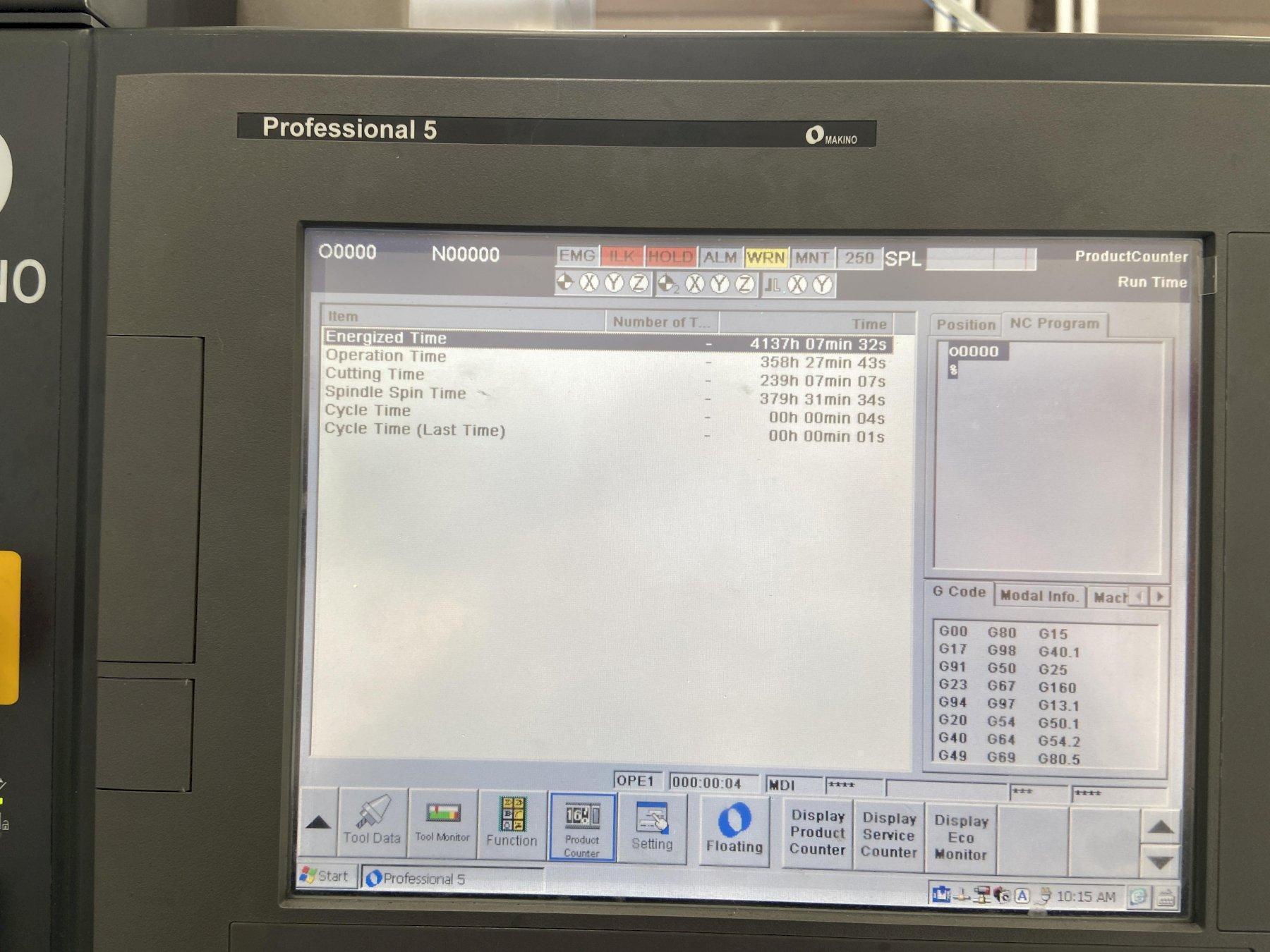 Makino F9 CNC Vertical Machining Center - LIKE NEW