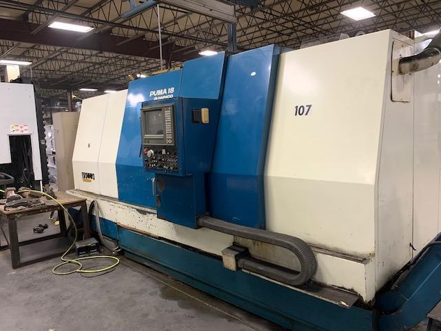 "Daewoo Puma 18, 35.5"" Swing, 27.6"" Turning Diameter, 62"" Length, 6"" Spindle Bore