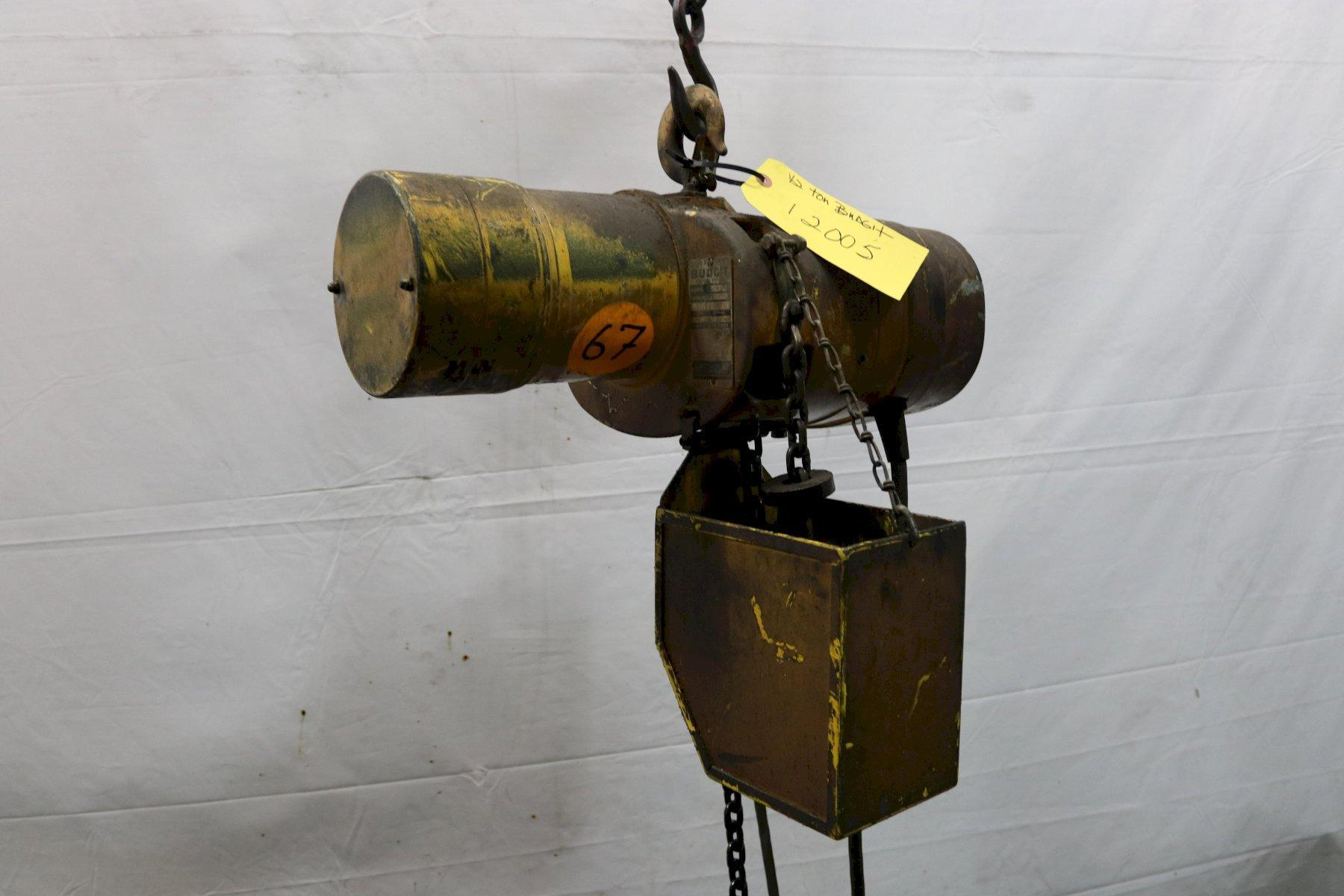 1/2 TON BUDGIT ELECTRIC POWERED CHAIN HOIST: STOCK #12005