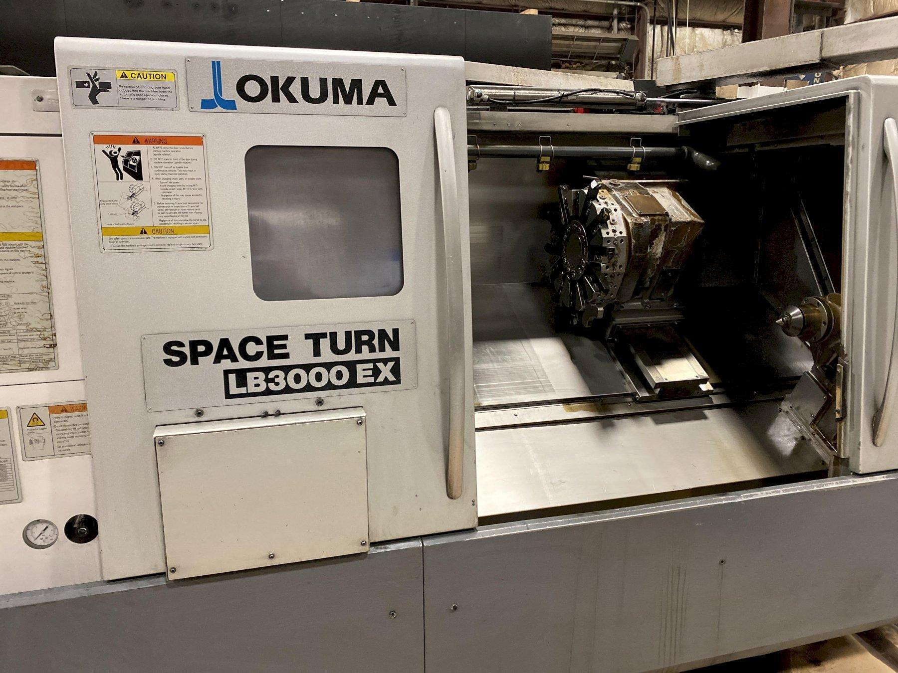 Okuma LB-3000EX C-1000 Spaceturn CNC Lathe, OSP P200LA, 12