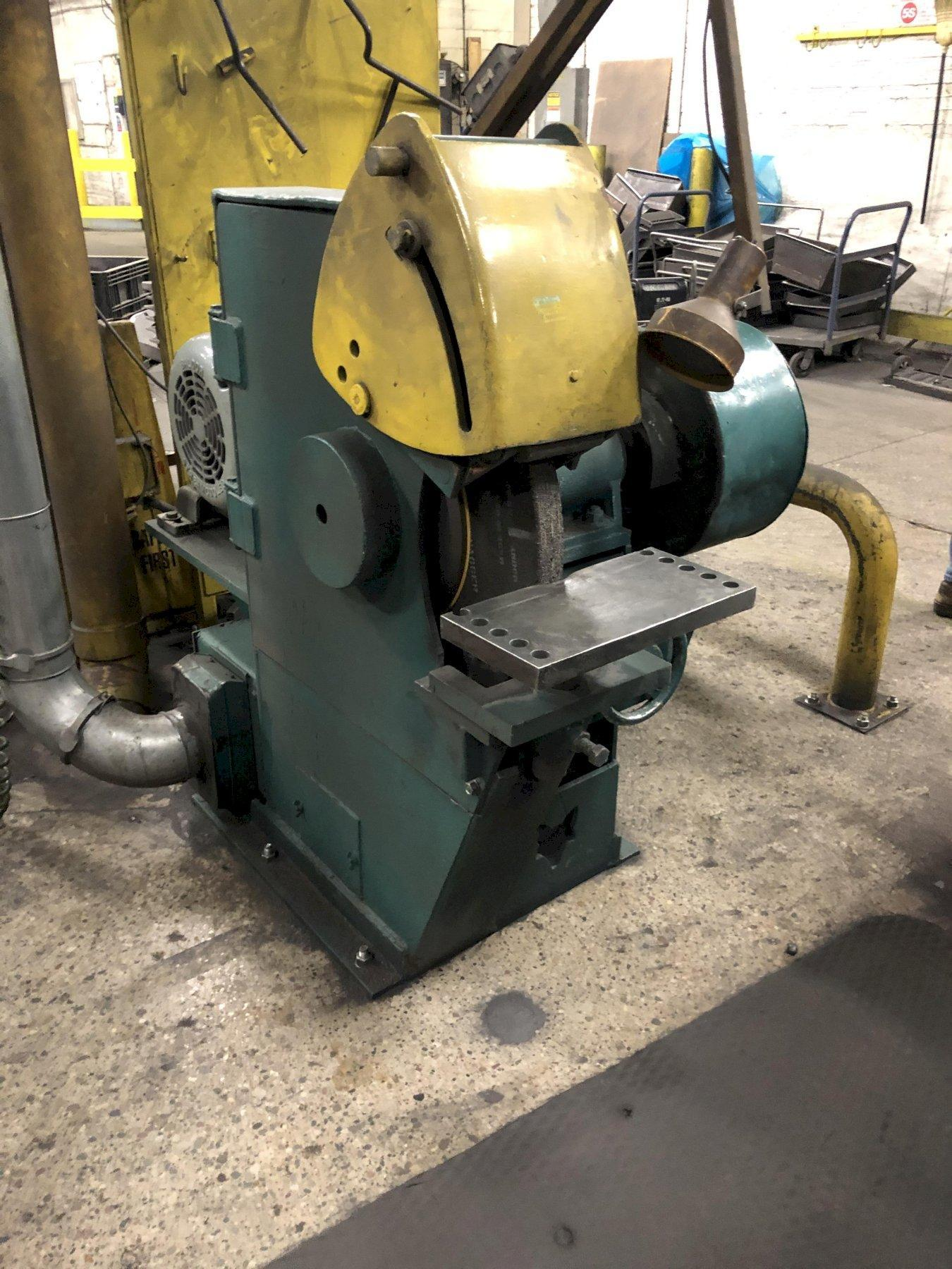 "FOX MODEL G60G 30"" LEFT HAND SINGLE END GRINDER WITH SAFETY GUARDS S/N 5764359, 25 HP"