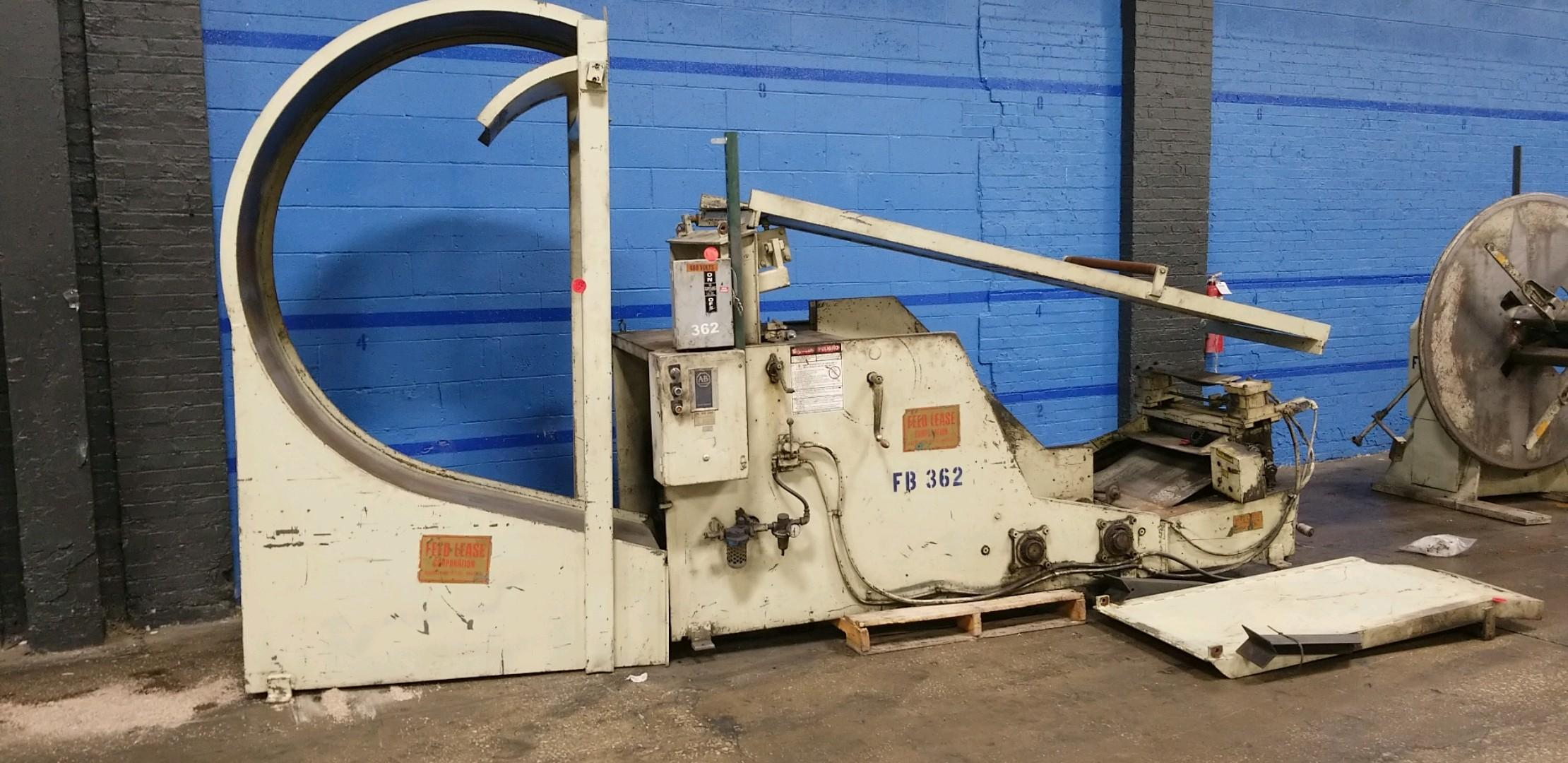 Feed Lease Coil Cradle Uncoiler 10,000 Lbs.