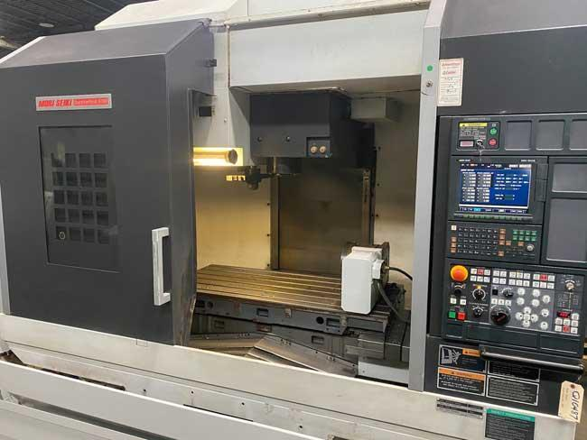 """MORI SEIKI DURAVERTICAL 5100, MSX-504II CNC Control (Fanuc), 53.1"""" x 23.6"""" Table, 10"""" 4th Axis Table, X=40"""", Y=21"""", Z=20"""", 12,000 Max Spindle RPM, 30 Station Tool Changer, TSC, HPC, New 2007."""