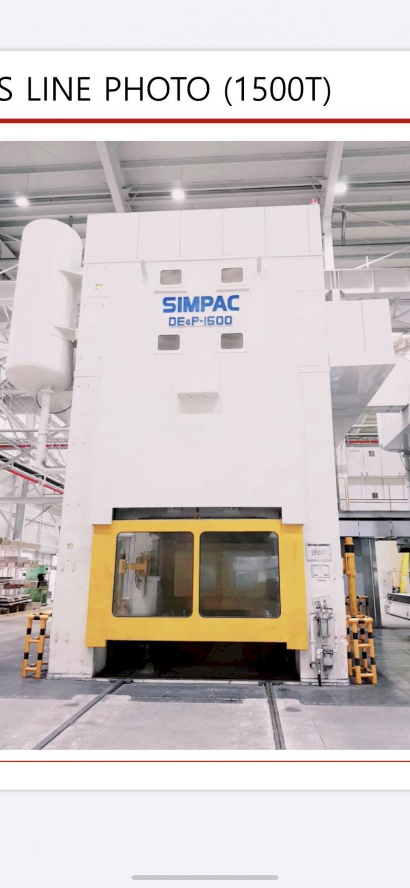 Simpac tandem press line 2014