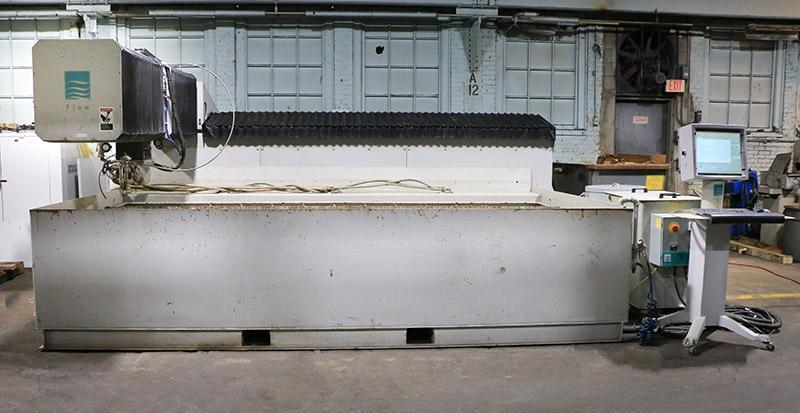 6 ft x 12 ft, Flow Systems Integrated Flying Bridge Type Hyperjet 100 CNC Water Jet with Dynamic Head, Model I-6012