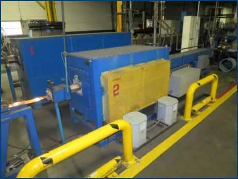 """5"""" C.I. HAYES COPPER AND BRASS STRIP ANNEALING LINE   Our stock number: 113618"""