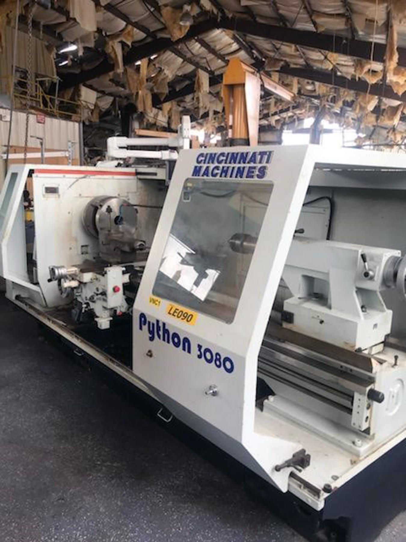 "USED, 30"" X 80"" CINCINNATI MODEL 30X80VS PYTHON LATHE"