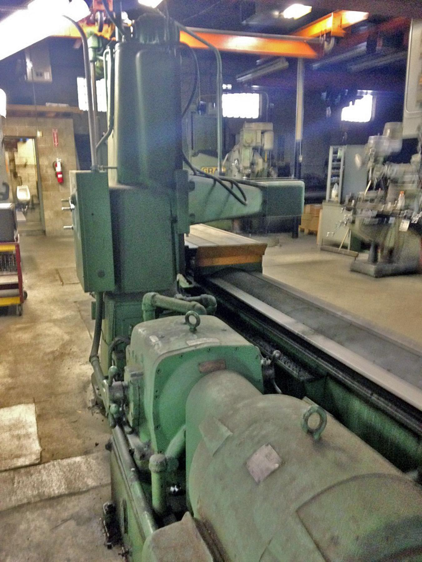 "USED, 36"" X 14' ROCKFORD MODEL C-5355 HYDRAULIC OPEN SIDE PLANER"