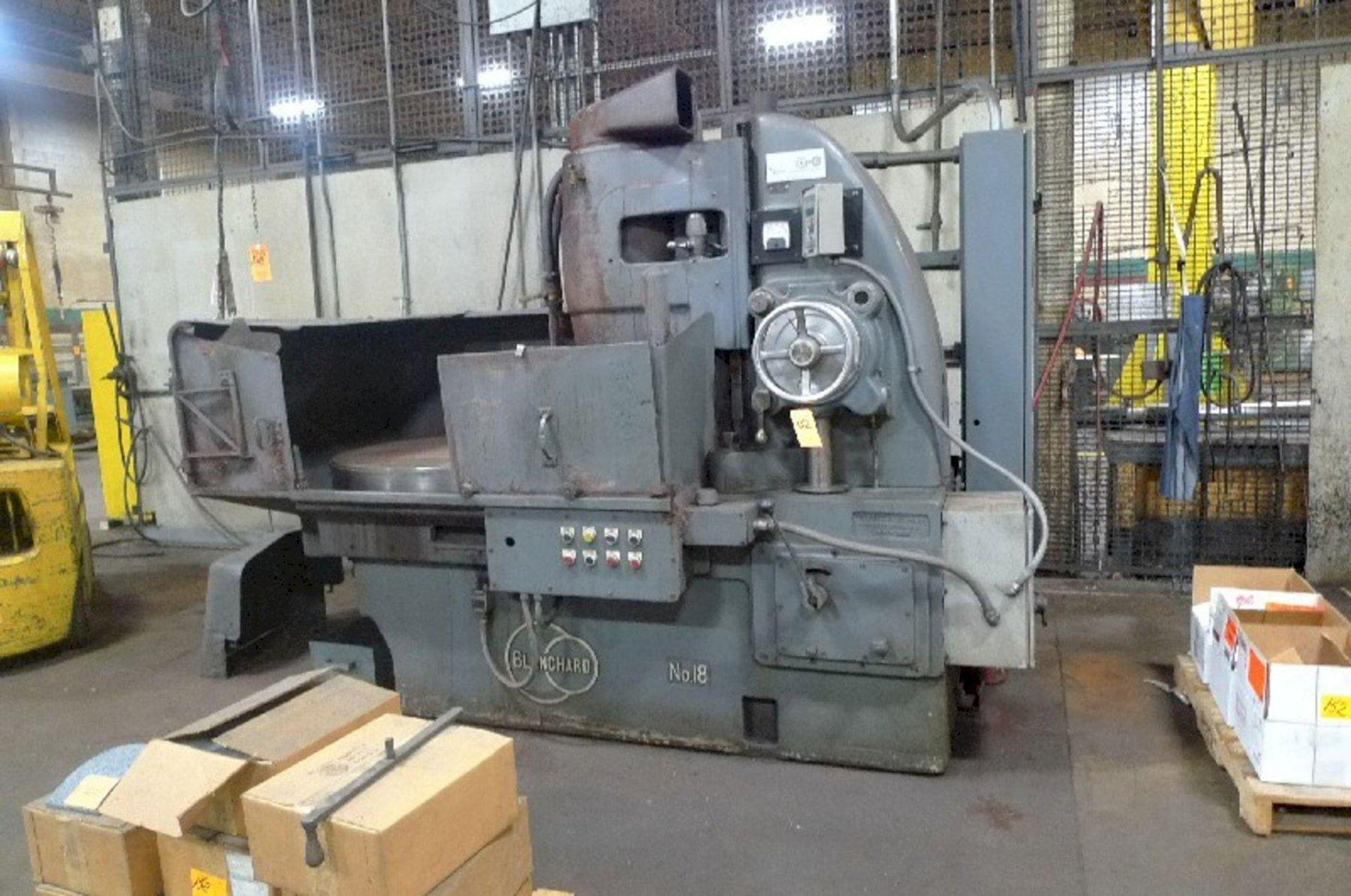 """36"""" BLANCHARD MODEL #18 ROTARY SURFACE GRINDER: STOCK 13862"""