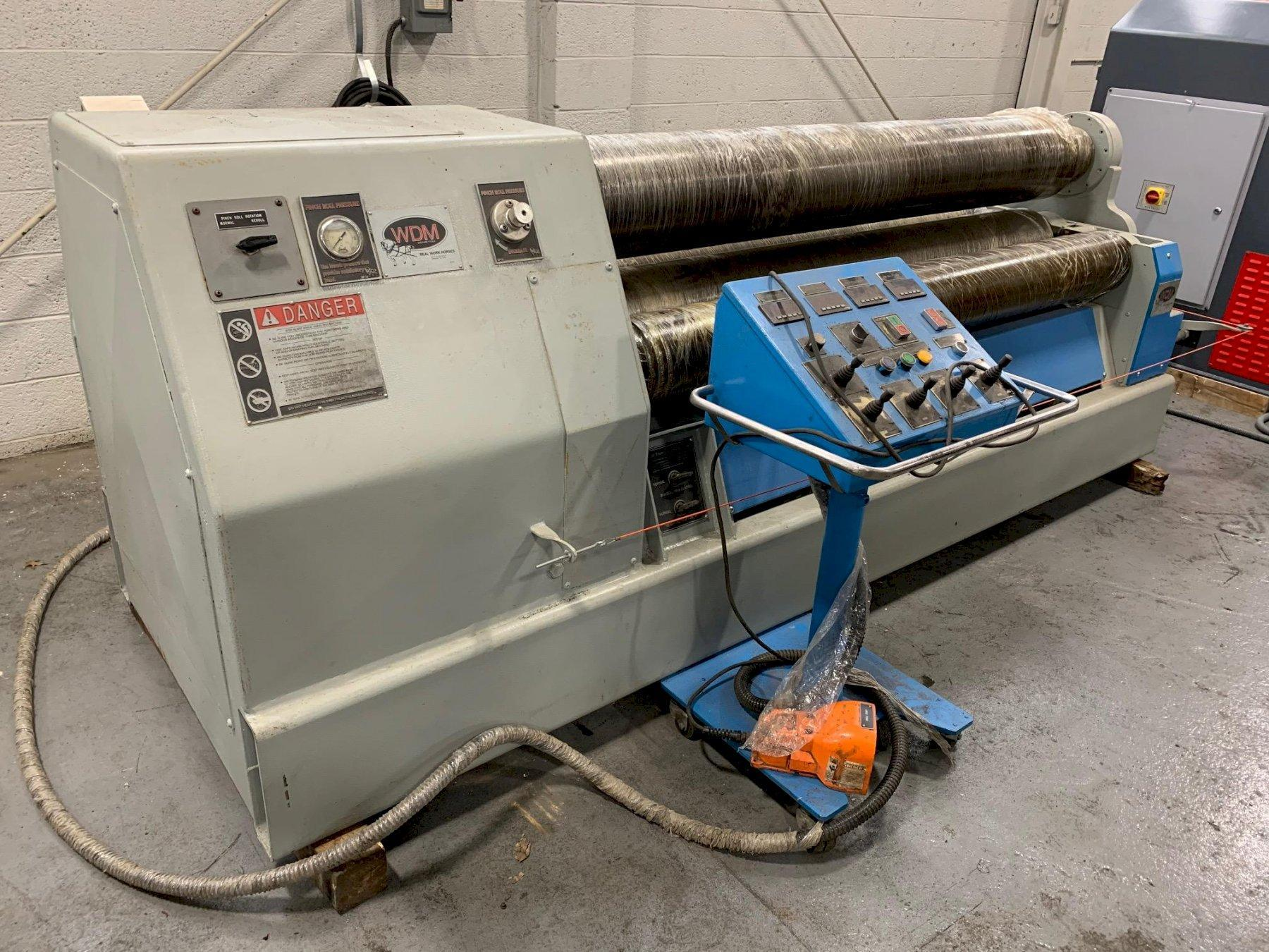 "USED WDM 4-ROLL HYDRAULIC PLATE BENDING ROLL MODEL 403-11-6.58 5/8"" x 6.58', STOCK NO. 10681, YEAR 2014"