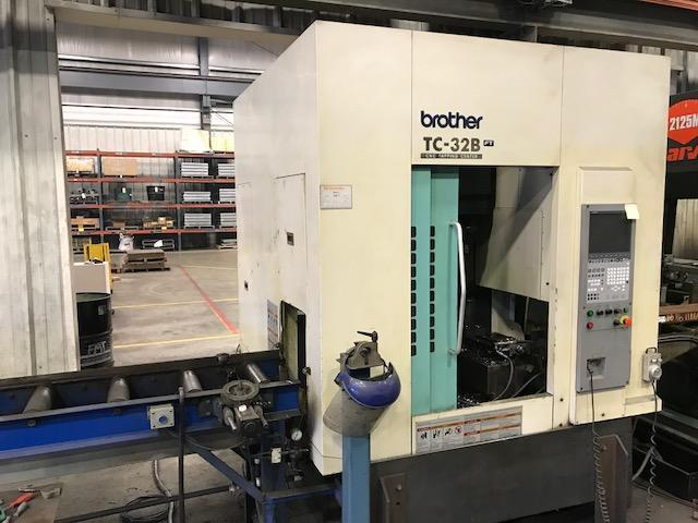 "Brother TC-32B FT Vertical Machining Center, 21.7"" x 15.7"" x 16.3"", 16000 RPM, Brother CNC-B00 Control, Table 31.5"" x 15.7"", BT-30 taper, 26+1 ATC."