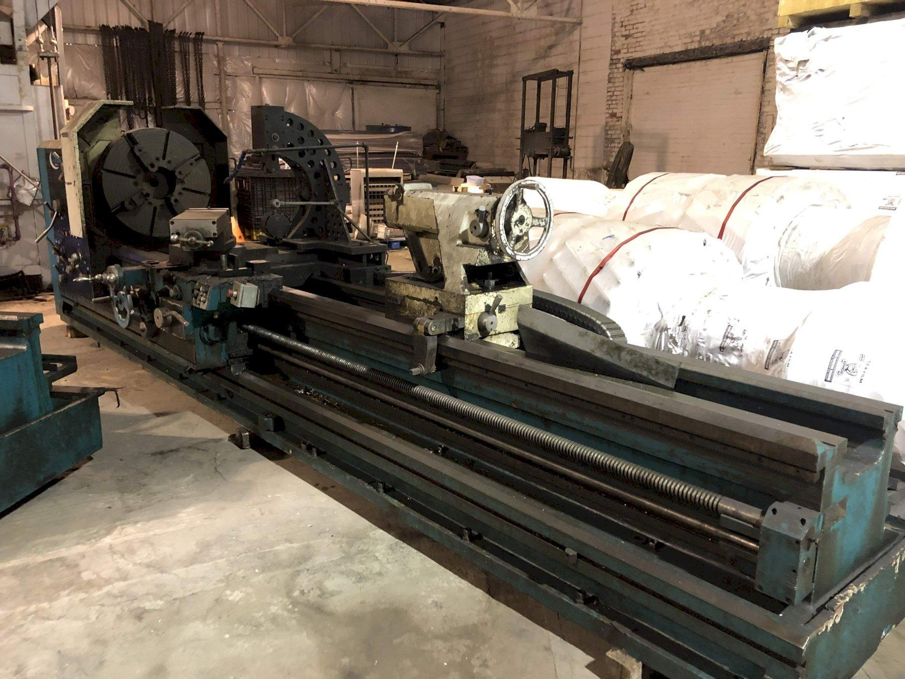 """35"""" X 160"""" CLAUSING HOLLOW SPINDLE GAP BED  ENGINE LATHE: STOCK #73018"""