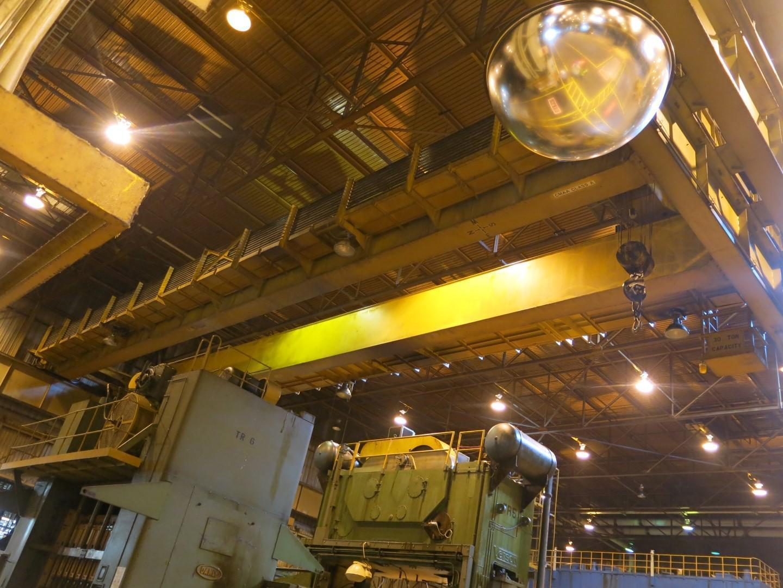 "30 Ton x 48' 1"" P&H Double Grinder Overhead Bridge Crane"