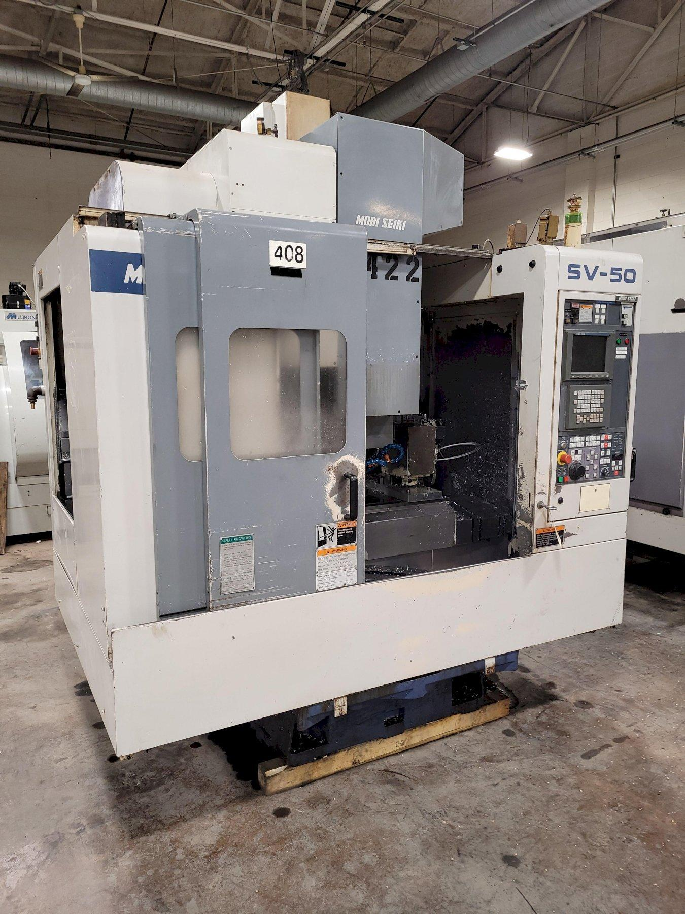 Mori Seiki Model SV-50 4-Axis Vertical Machining Center