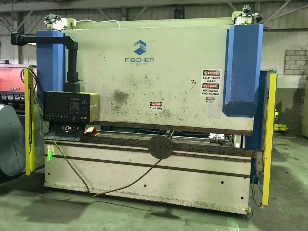 "Used FISCHER HYDRAULIC CNC PRESS BRAKE, Model DAP16 / 3100E, 176 ton x 120"", Stock No. 10471"