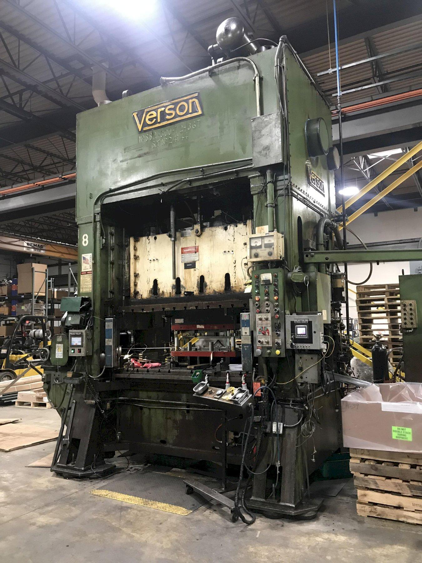 300 Ton Verson SS2-300-72-36T SSDC Press