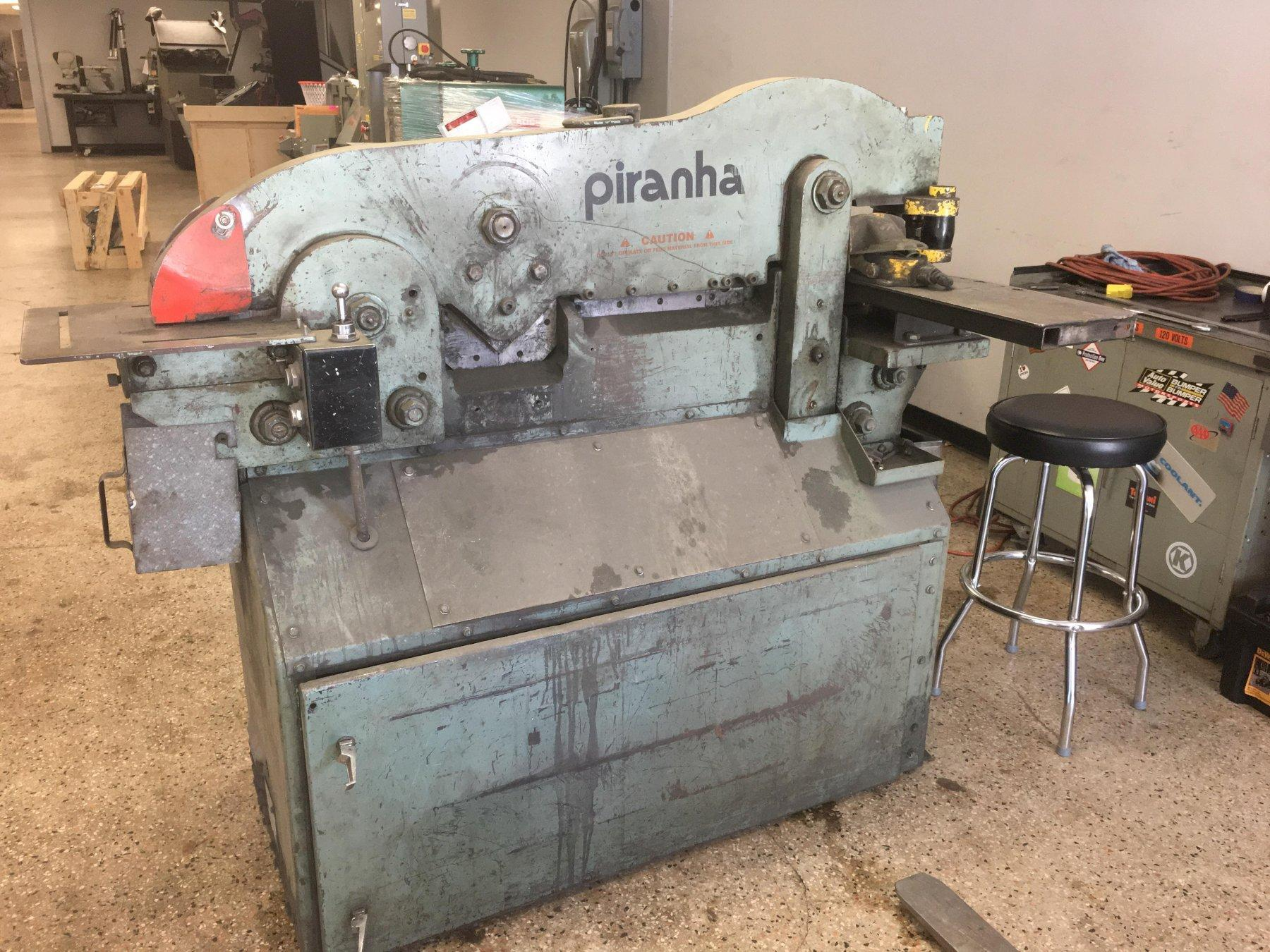 Piranha Model P3 50 Ton Hydraulic Iron Worker, S/N P3-2752.
