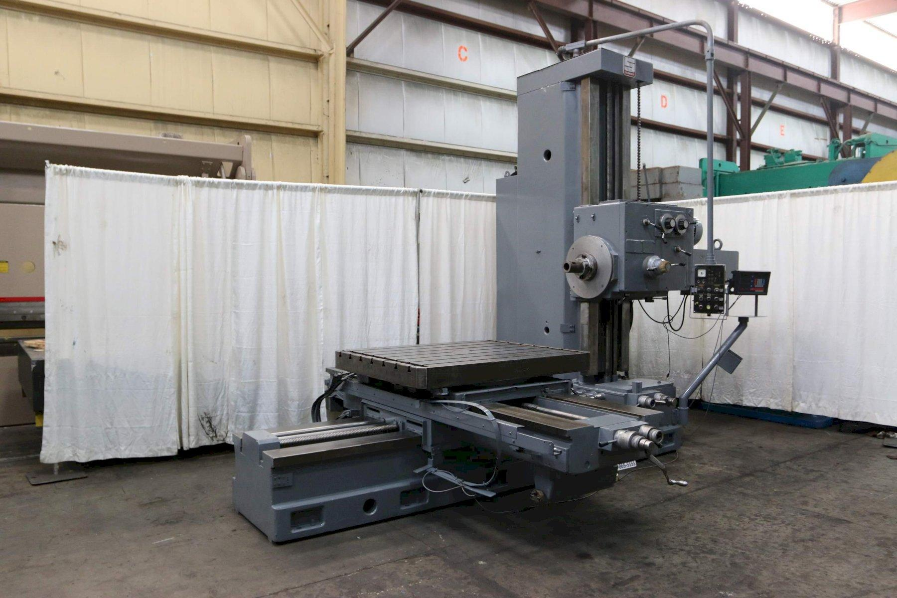 4' SUMMIT MODEL AFD-100 ROTARY TABLE HORIZONTAL BORING MILL: #68767