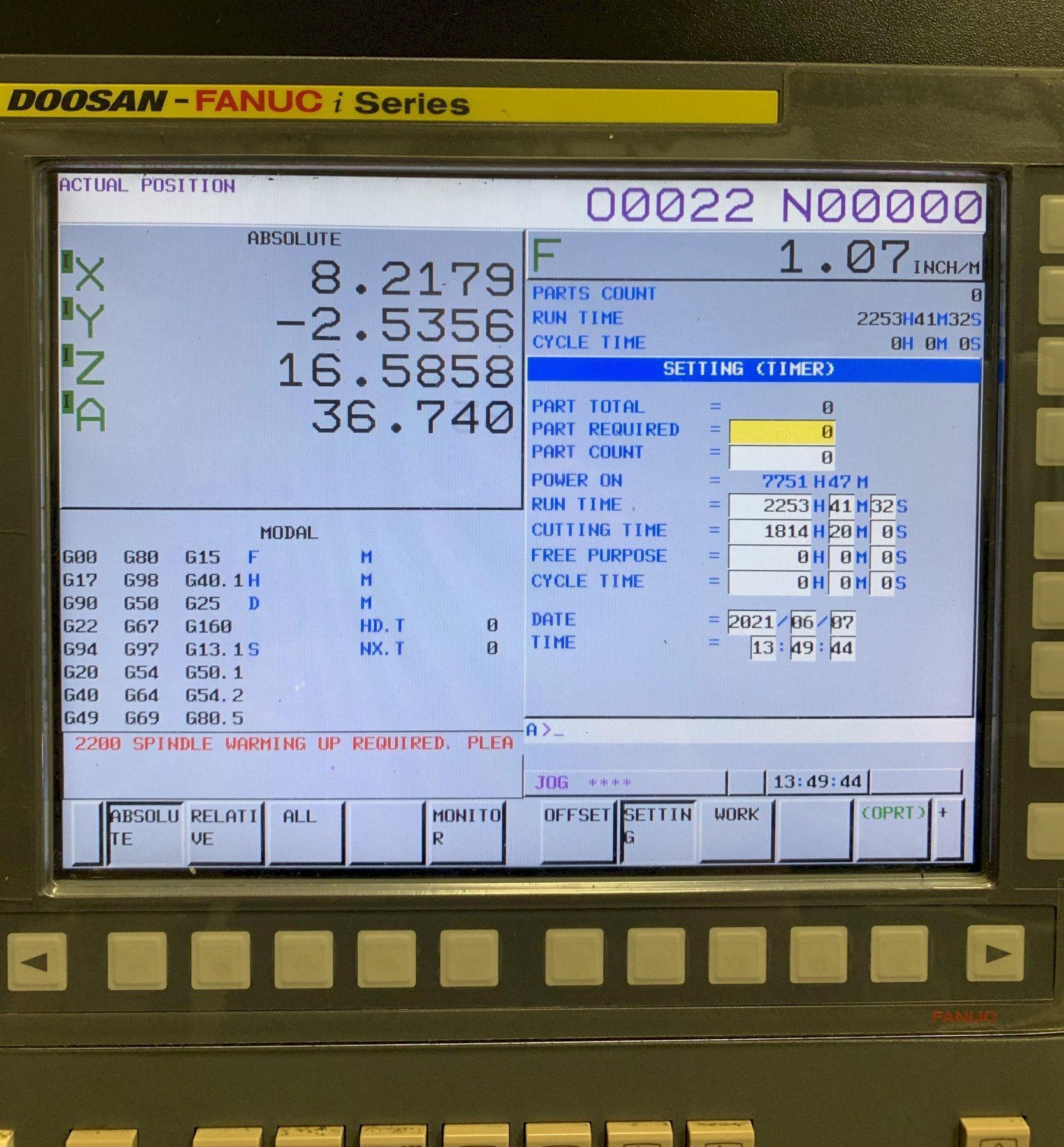 2018 Doosan DNM 5700 Vertical Machining Center