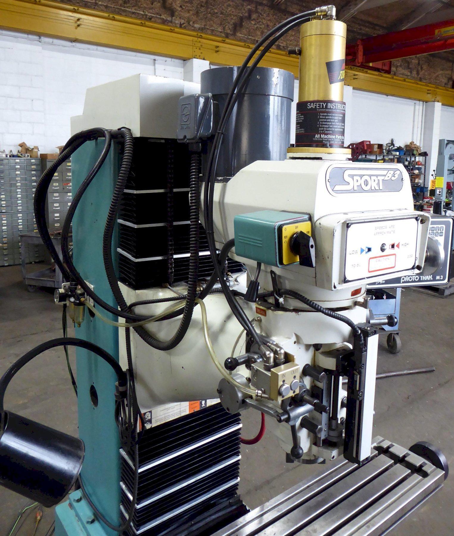 "SWI Trak CNC Vertical Mill Sport B3, 3-Axis, 10"" x 50"" Tbl., M3 Control"