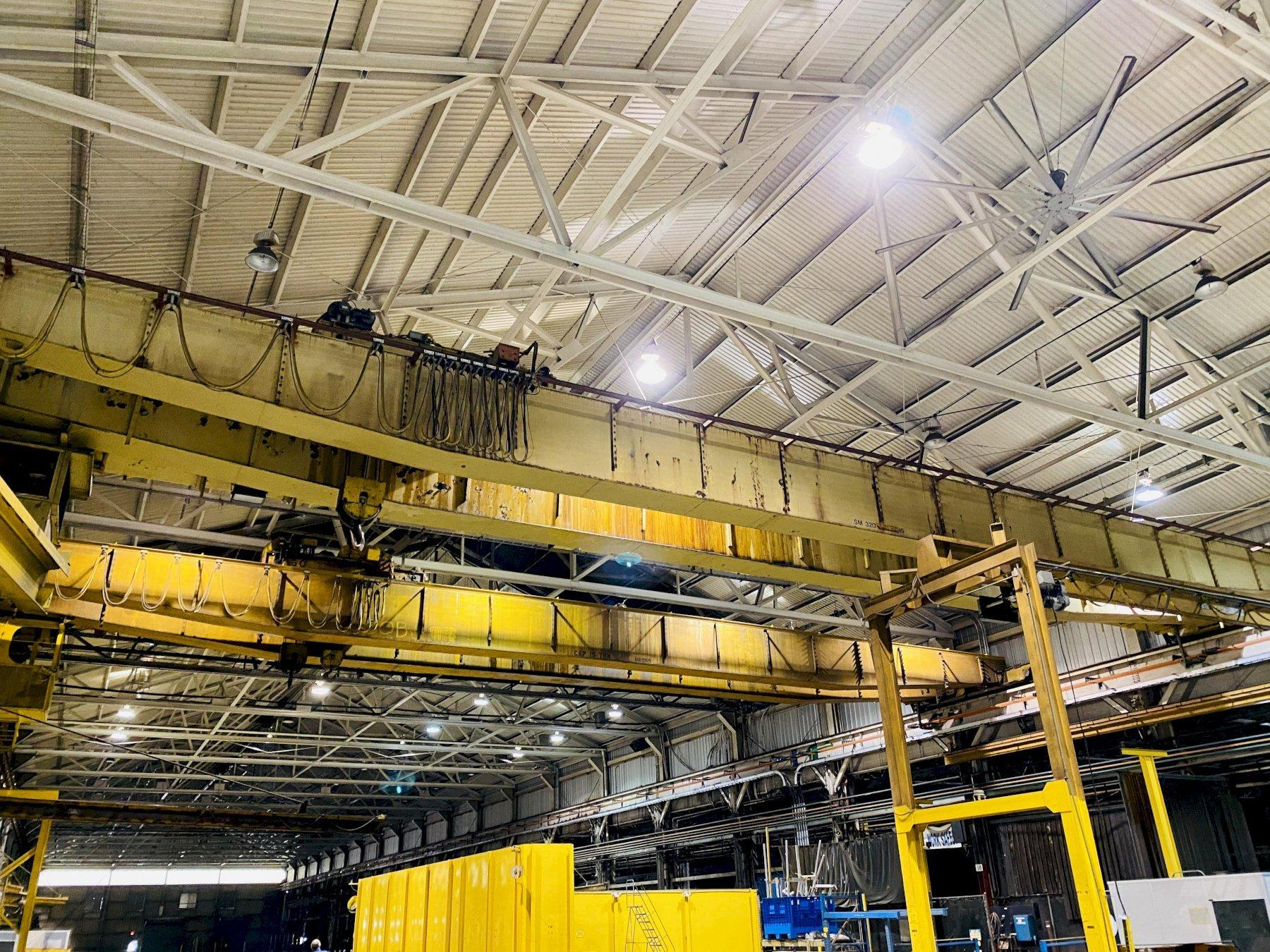 "15 TON X 103'4"" P&H OVERHEAD BRIDGE CRANE. STOCK # 0734020"