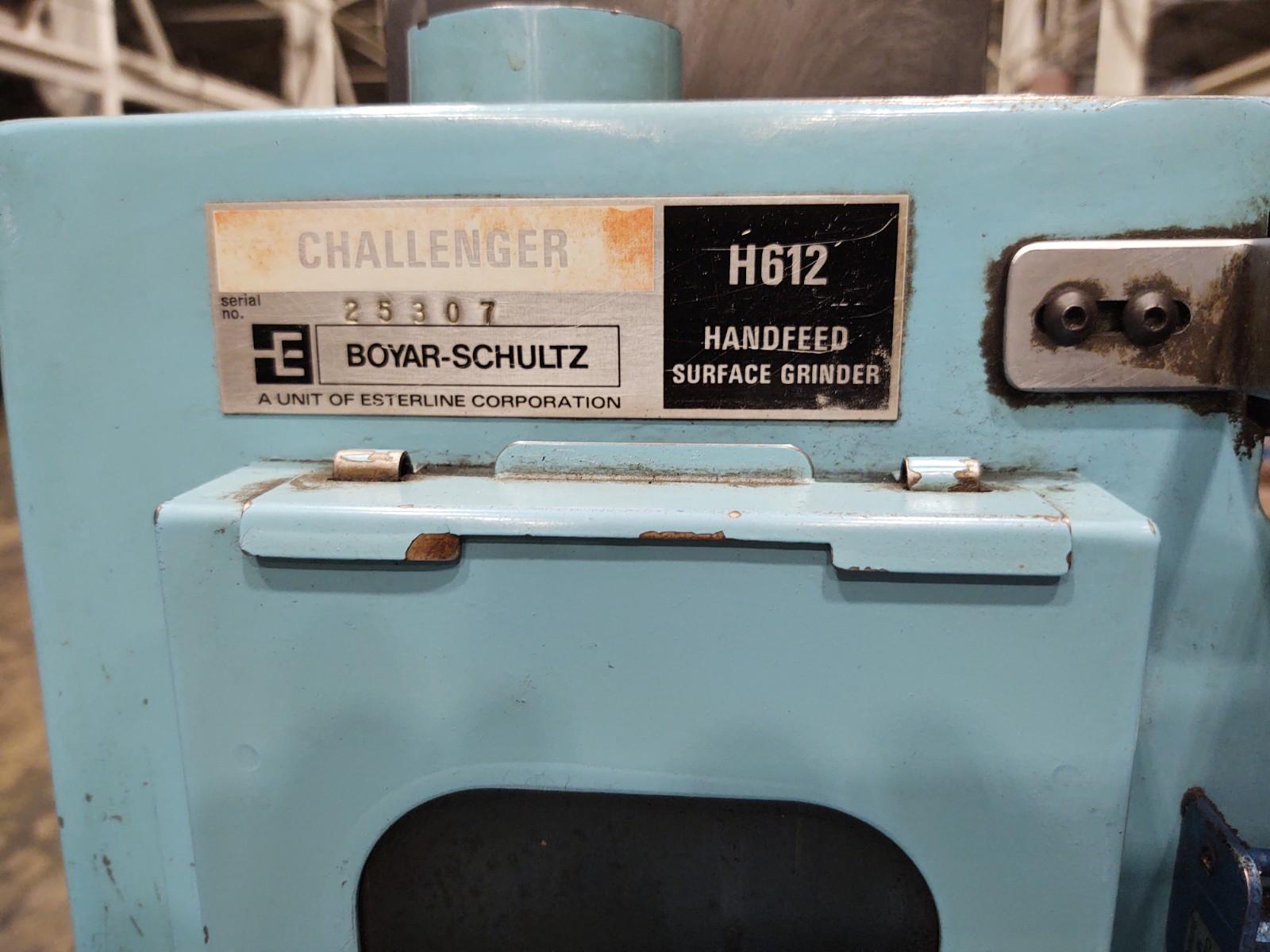 """Boyar Schultz 6"""" x 12"""" Hand Feed Surface Grinder Model Challenger H612"""