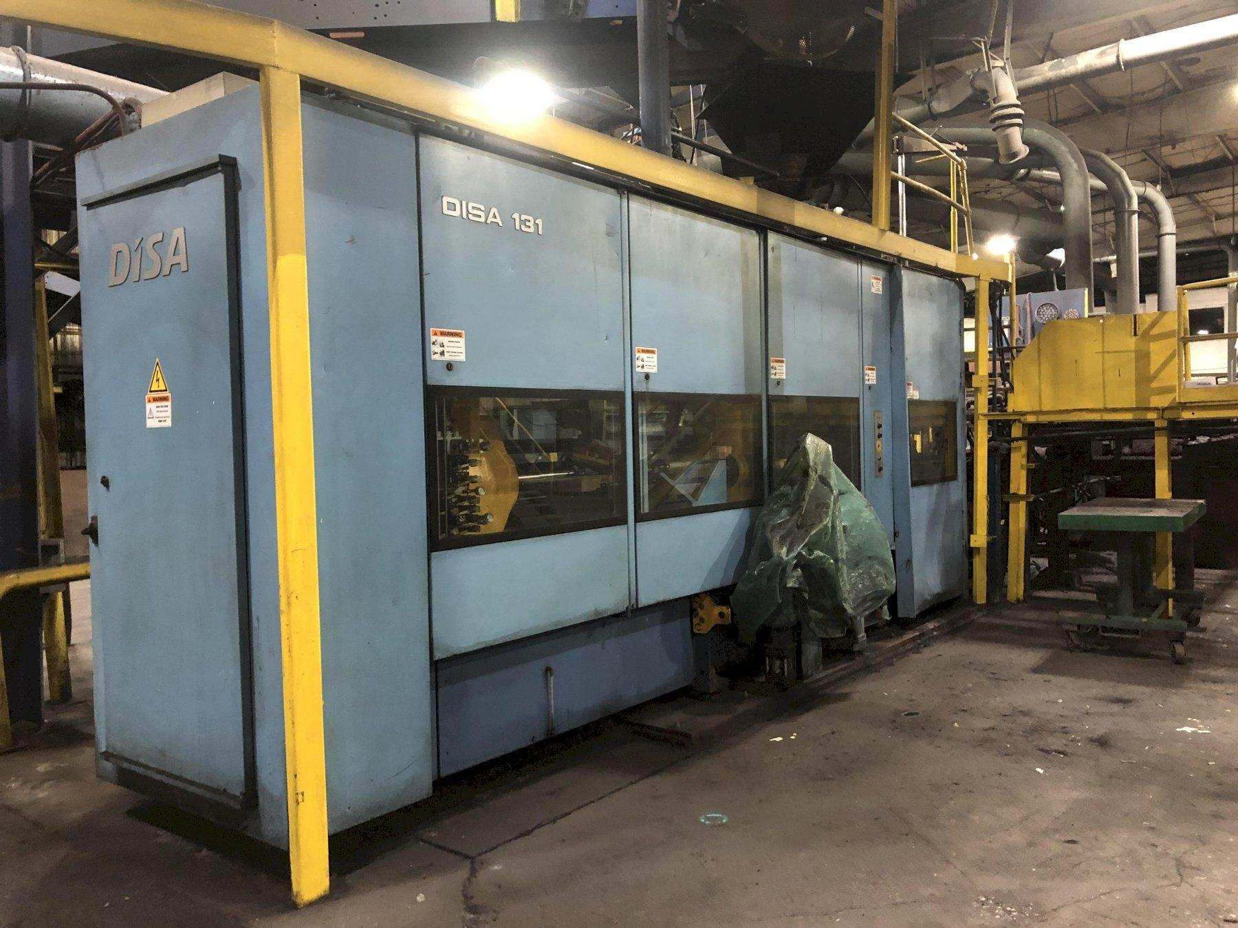 2012 DISAMATIC MODEL 131A (now d3a) AUTOMATIC MOLDING MACHINE S/N 140060 WITH CORE SETTER, CONTROLS, STOPPER ROD POURING SYSTEM WITH INOCULATION FEEDER, APPROX. MOLD COUNT 3,200,000, 57' AUTOMATIC MOL