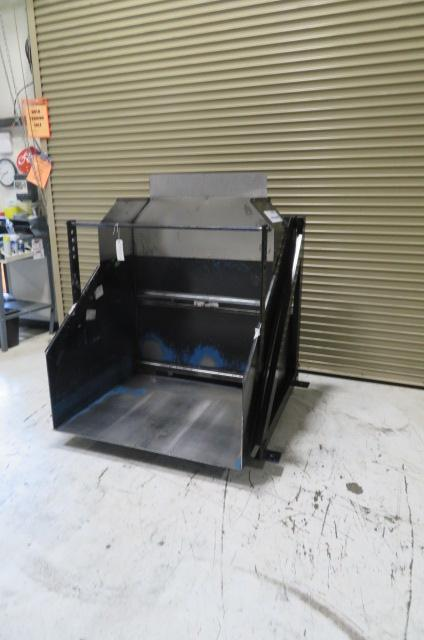 Material Transfer and Storage, Inc. Used Box Dumper, 2500 lbs. Lifting Capacity, 480V