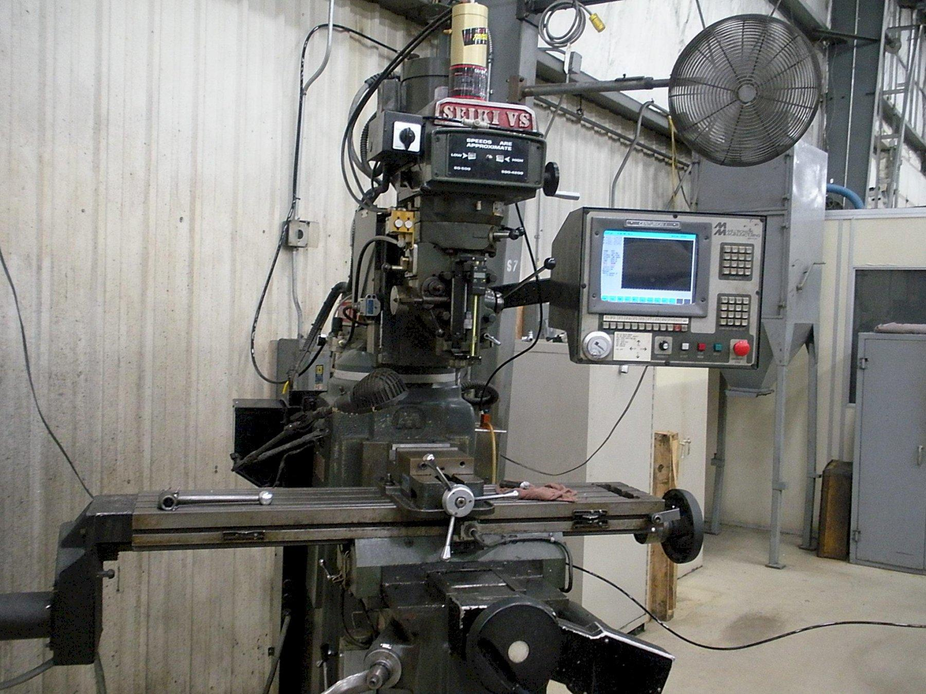 Seiki 4VS 3-Axis CNC Variable Speed Vertical Knee Mill, S/N 9474, New 1998.