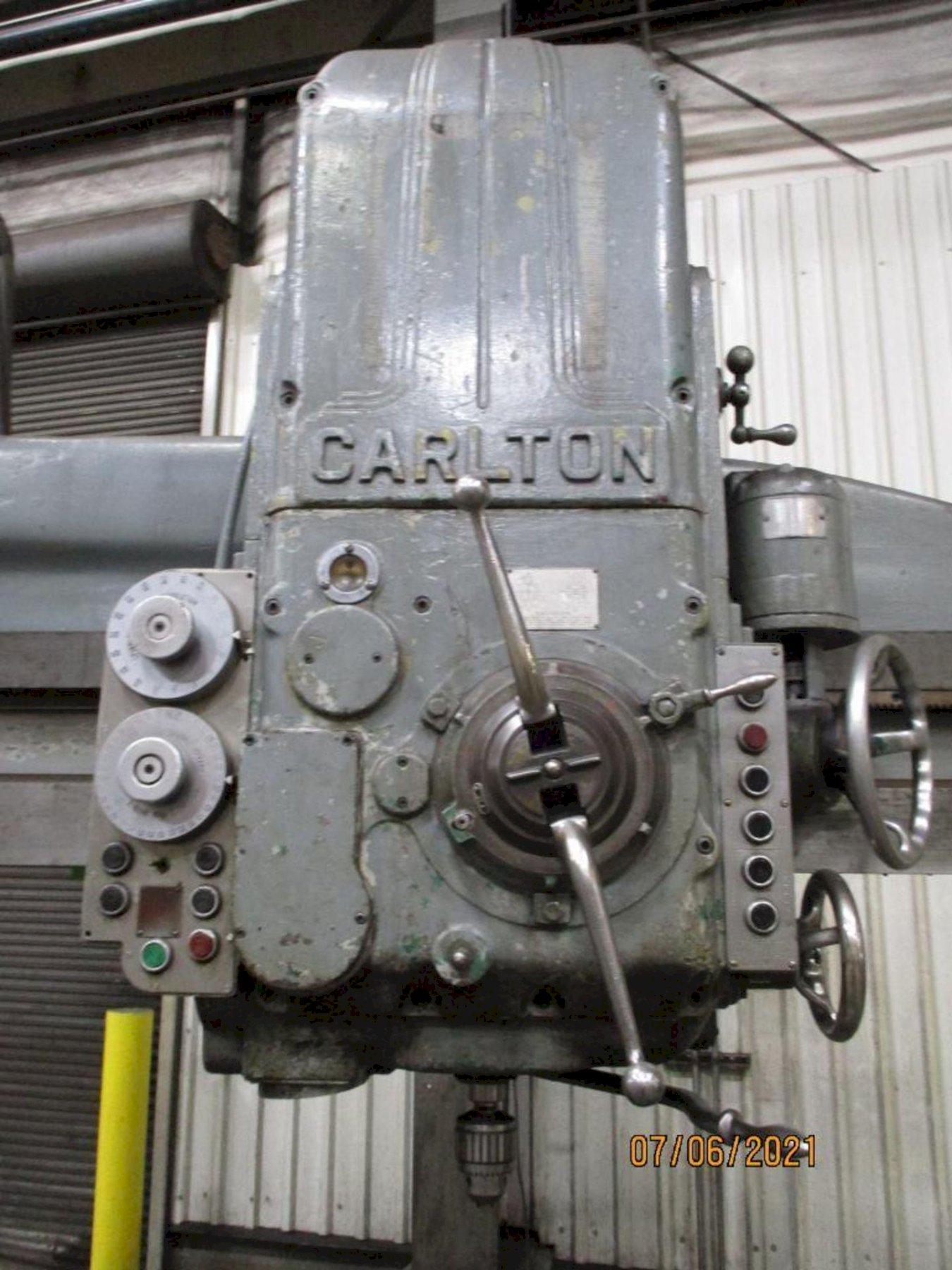"6' X 15"" CARLTON 3A RADIAL ARM DRILL. STOCK # 0844121"