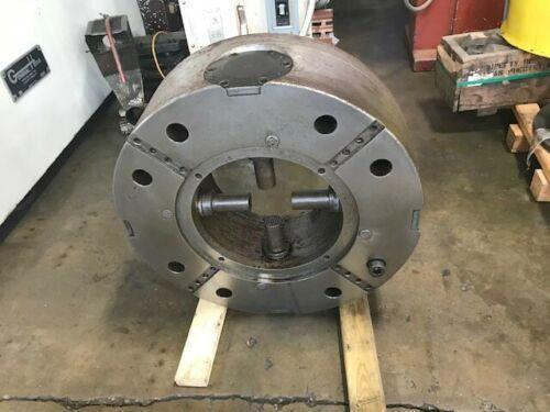 "31"" ROTOMORS 4-JAW Self Centering Hydraulic Chuck with 15"" Bore, Model MC-ID, 15.15"" Hole, 20mm Jaw Stroke, 55,000 LBS Clamp Force."