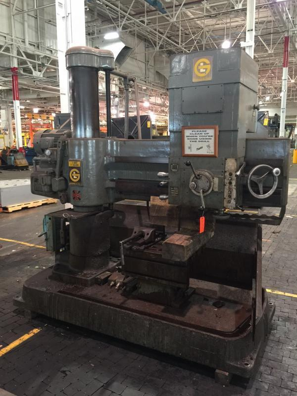 4' X 11' GIDDINGS & LEWIS RADIAL ARM DRILL: STOCK #66345