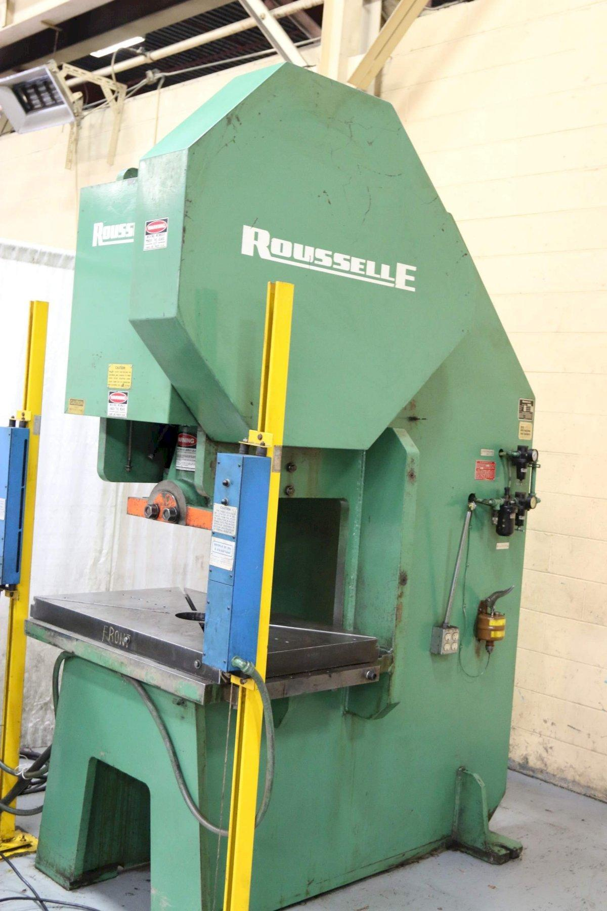 110 TON ROUSSELLE SINGLE CRANK GAP BED PRESS: STOCK #68444