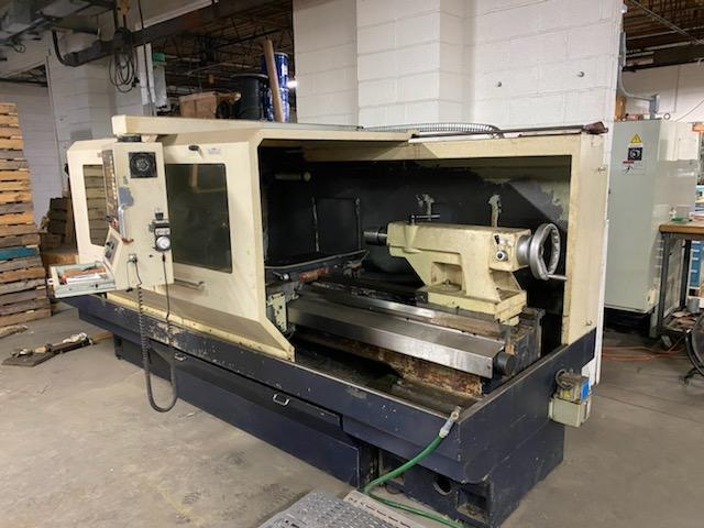 "26"" X 80"" WILLIS ENC2680 CNC FLATBED LATHE. STOCK # 1302220"